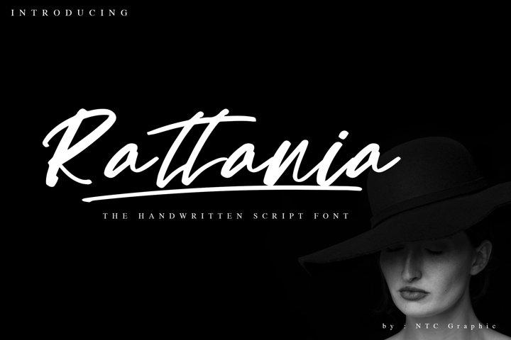 Rattania Handwritten Script Font