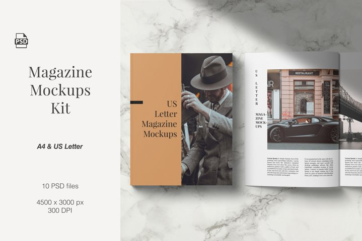 Magazine Mockups Kit