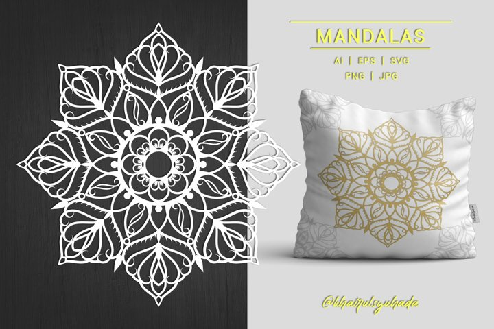 Mandala Monochrome - Single Vector