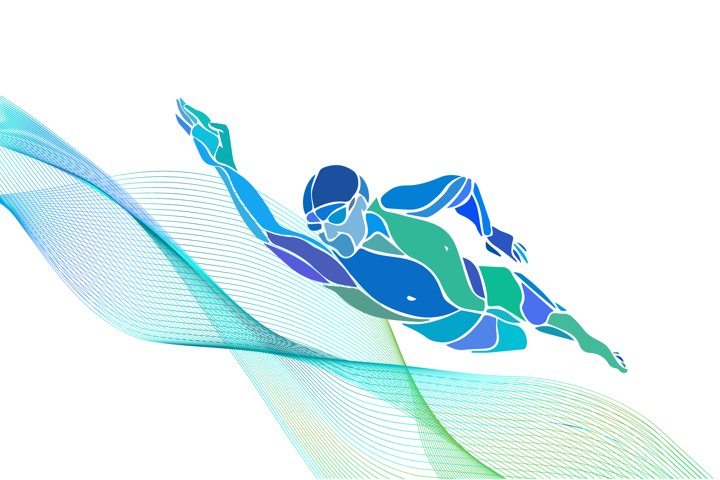 Swimmer silhouette vector Freestyle swimming svg