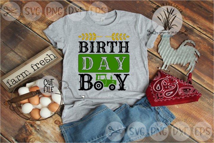 Birthday Boy, Tractor, Farm, Wheat, Kids, Cut File, SVG