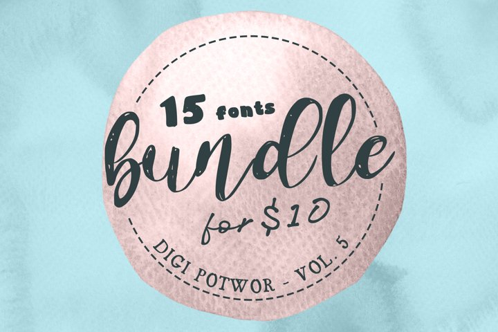 15 fonts - Bundle - vol. 5