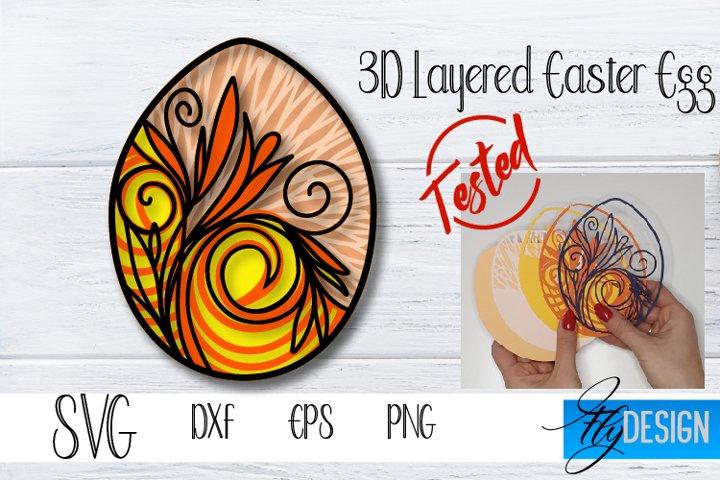 3D Layered Easter Egg. Easter Layered Svg. Easter Egg SVG v1