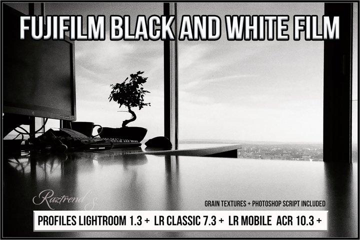 Fujifilm Black & White Film profiles Lightroom ACR