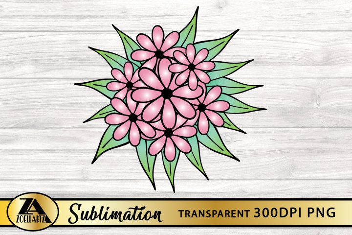 Flower PNG for Sublimation Floral Sublimation Design