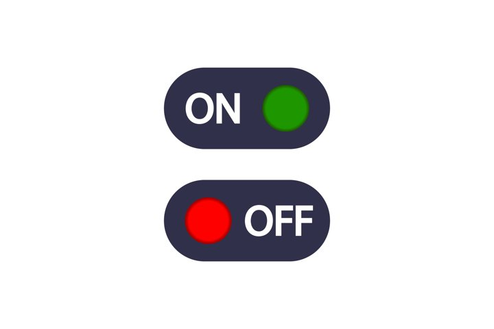 On Off toggle switch buttons icon