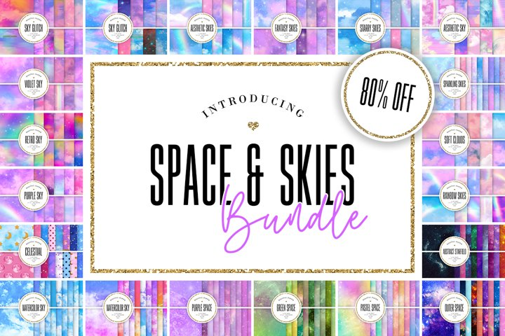 Digital Paper BUNDLE - 219 Space & Skies Backgrounds