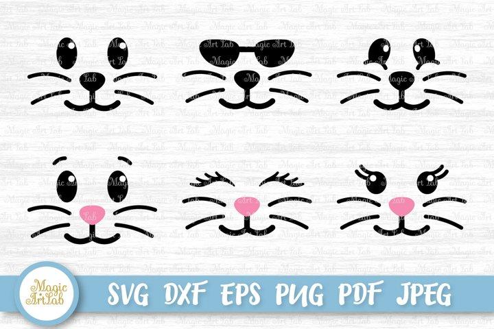 Bunny face svg, Easter svg, Bunny svg, Easter bunny svg file