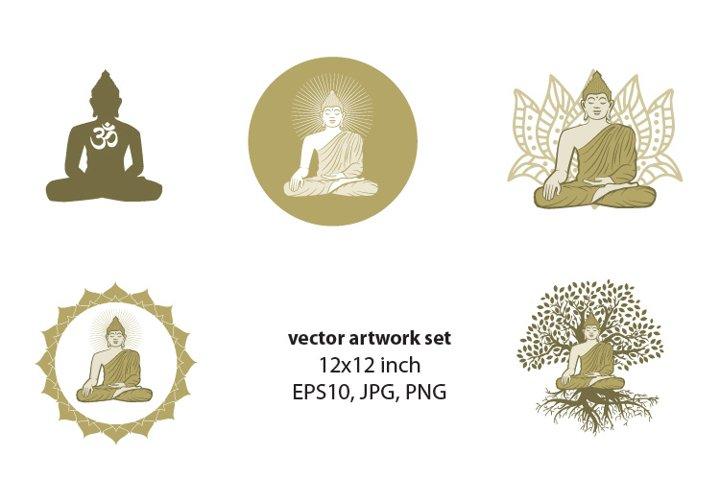 Buddha - VECTOR ARTWORK SET