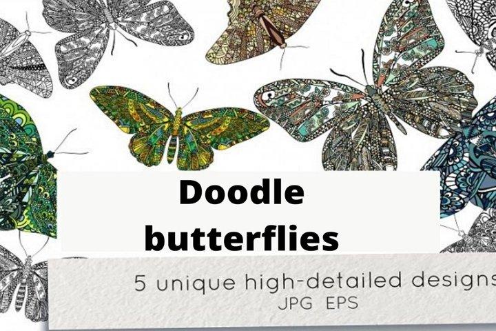 Doodle butterflies vol.1