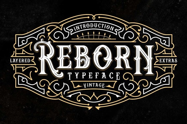 Reborn Layered Typeface + Extras