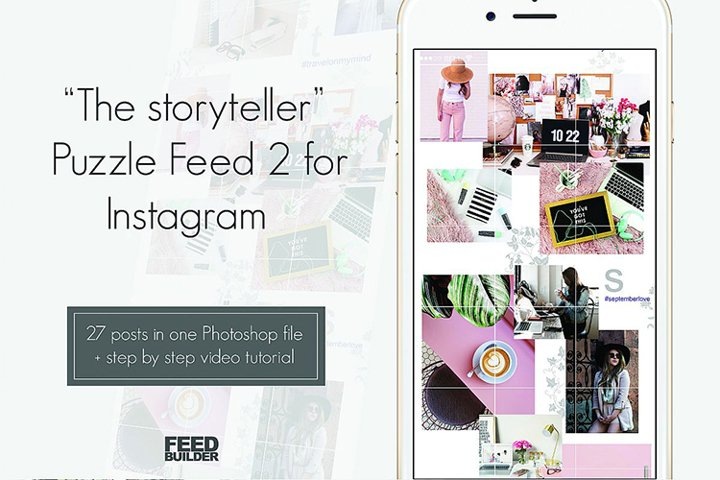 Instagram Puzzle Feed Template 2
