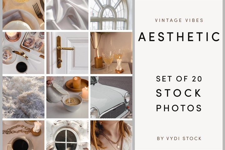 AESTHETIC. Set Of Styled Stock Photo
