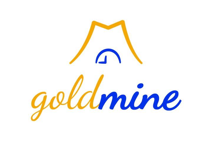 Gold mine logo template