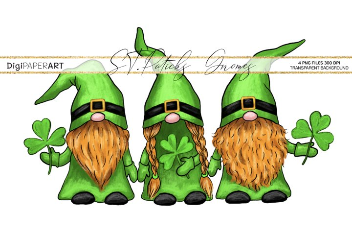 St. Patricks Day Gnome gPNG, Gnome Sublimation Design