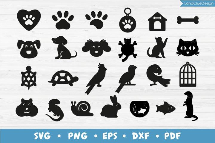 Pets Bundle - 25 items, Animals SVG Cut Files