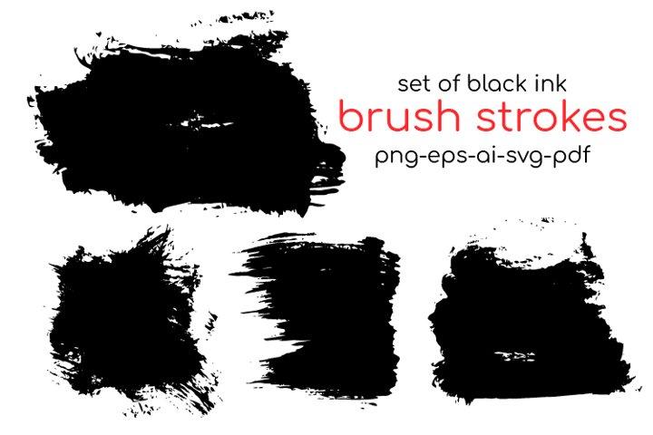 Brush Strokes SVG, Paint Brushes SVG. Brush Strokes Clipart