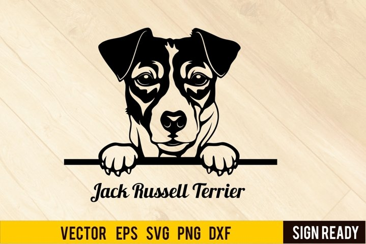 Peeking Jack Russell Terrier DOG SVG Clipart Vector Cut Re