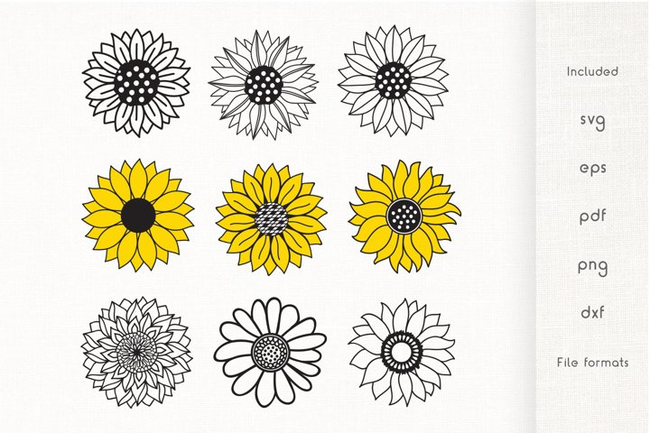 Sunflower SVG - Vector Cliparts