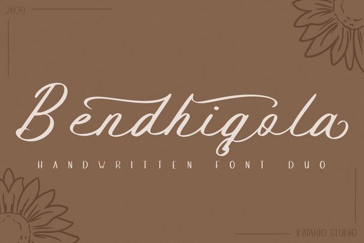 Bendhigola - Handwritten Font Duo
