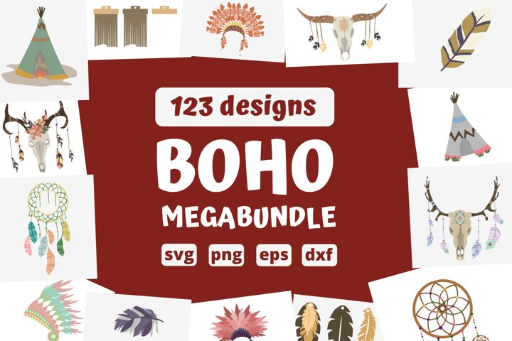 HUGE BOHO SVG BUNDLE | Feathers, earrings, dreamcatcher svg