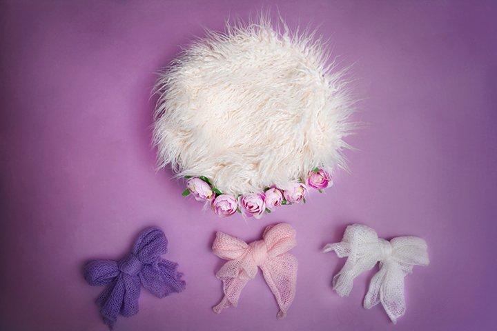 Set of 7 violet digital backgrounds for newborn photography
