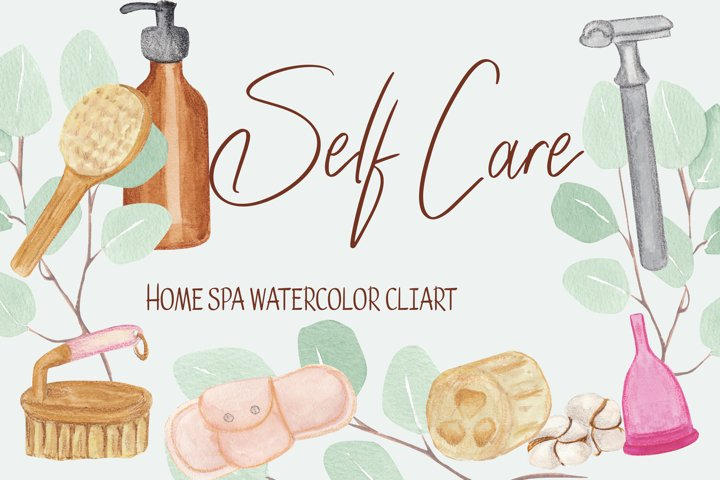 Self care clipart, home spa illustration example