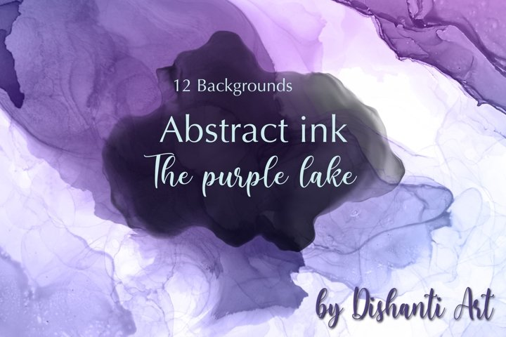 Alcohol ink Abstract Backgrounds texture Purple Lake