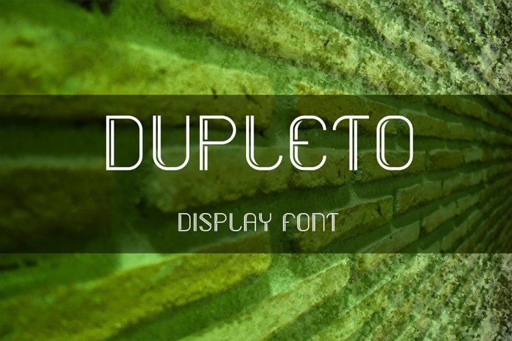 DUPLETO Display font