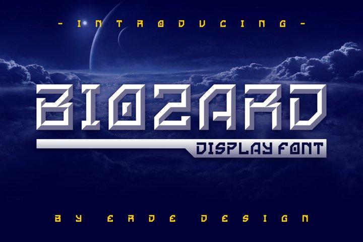 Biozard - Display Font