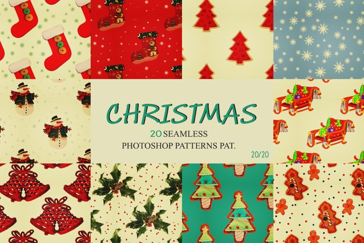 OLDIES ! 20 Christmas Backgrounds & Patterns Pat