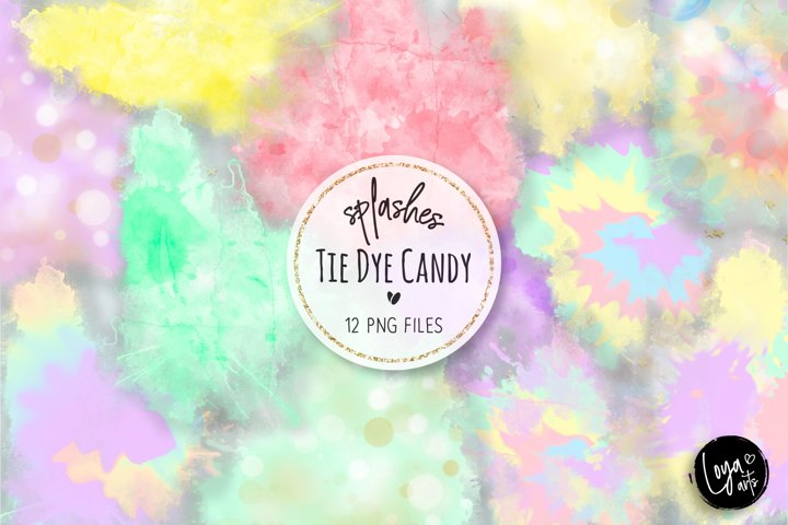 Tie Dye Candy Colors Splashes