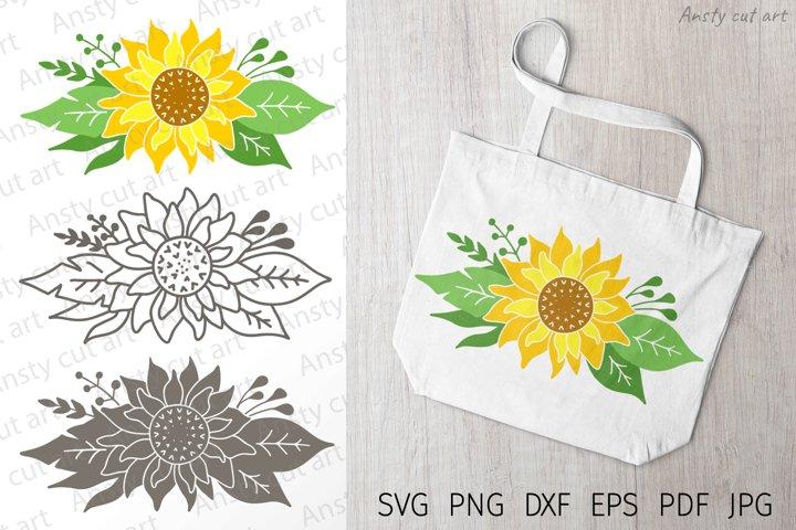 Sunflower svg. Sunflower clipart. Svg files for cricut.