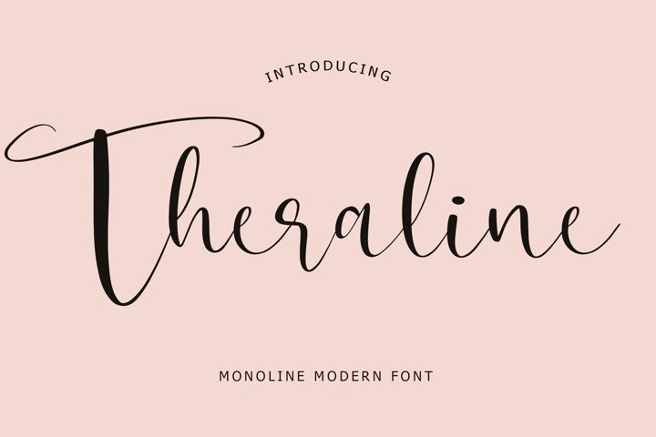 Theraline Monoline Modern Font
