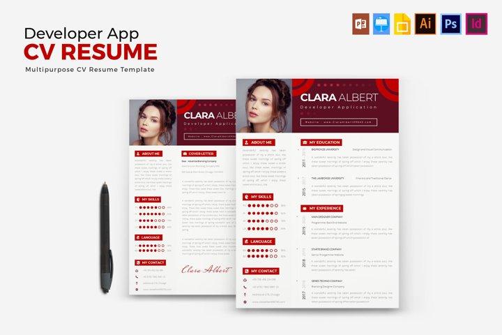 Developer App | CV & Resume