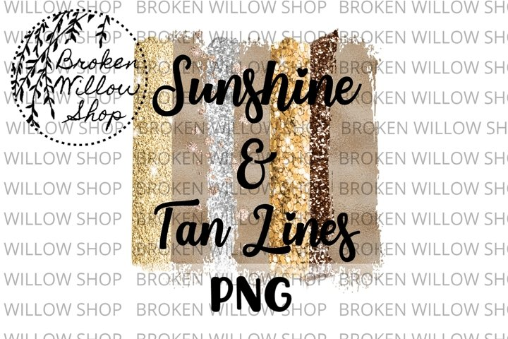 Sunshine and Tan Lines Summer Sublimation PNG File Instant D