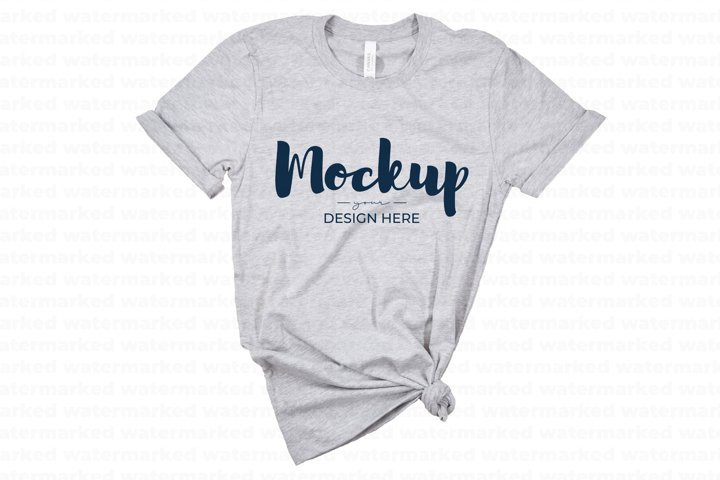 Gray Tshirt Mockup, Tshirt Mockup with plain background