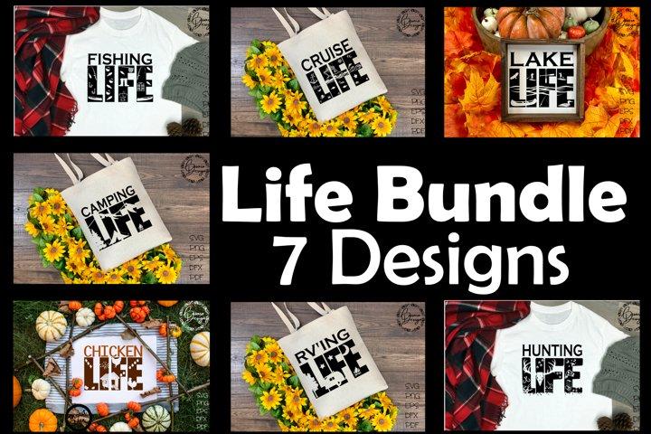 Life Bundle! SVG, PNG, PDF and MORE