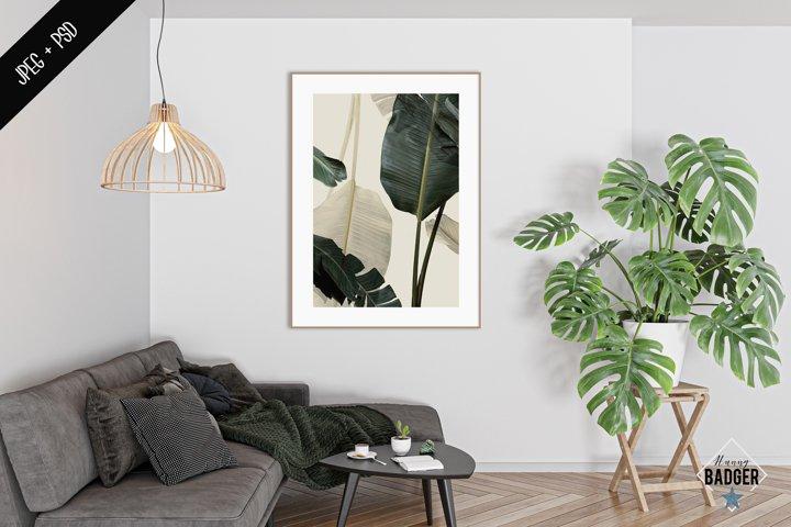 Interior mockup - frame & wall mockup creator