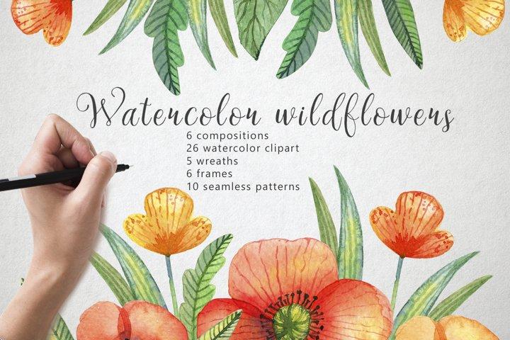 Watercolor wildflowers example