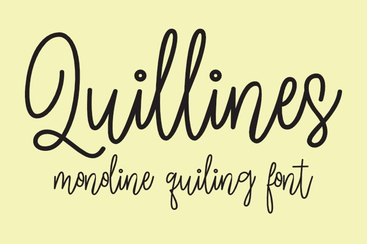 Quillines - Hairline Font - Single Line Font