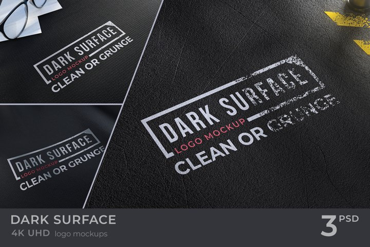 Dark Surface Logo Mockups