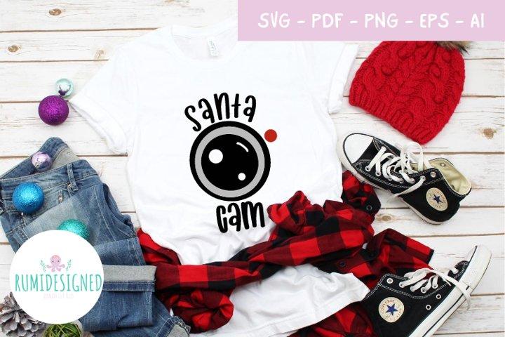 Santa Cam Camera Svg Cut File