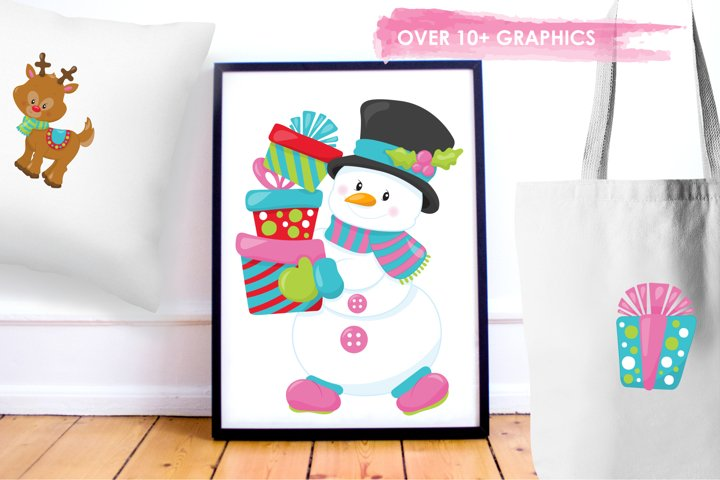 Christmas Friends graphics and illustrations - Free Design of The Week Design3