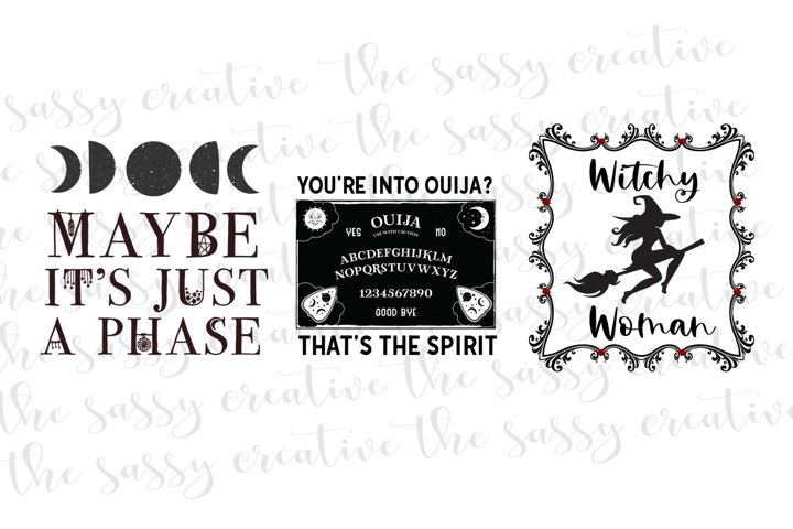 Halloween Witchy Quote Bundle PNG File Sublimation
