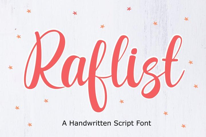 Raflist - Script Font