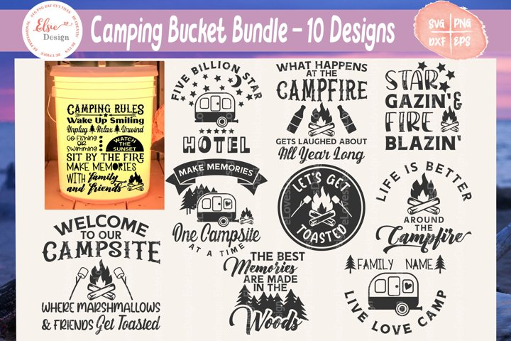 Camping Bucket Bundle SVG Cut Files