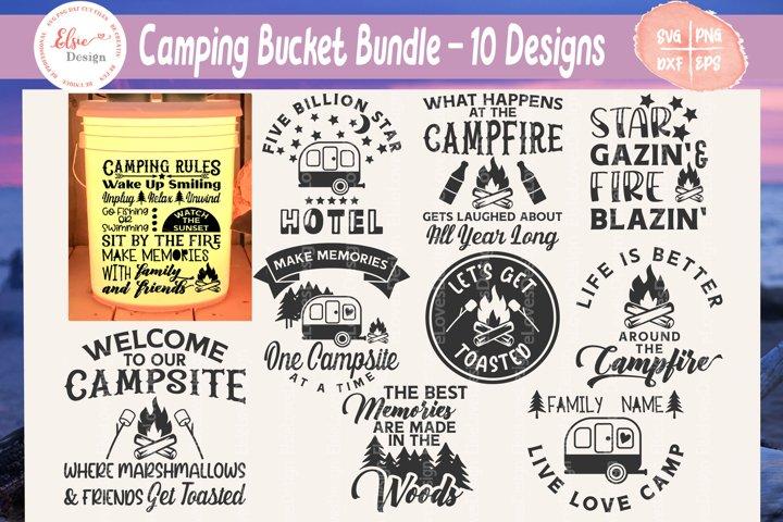 Camping Bucket Bundle SVG Cut Files