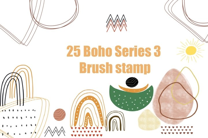 Procreate brushes 25 boho style
