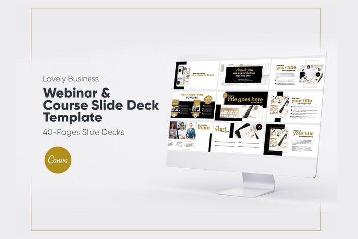 Lovely Business Webinar Slide Deck for Canva